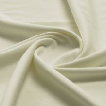 Cream - Plain 100% Cotton Interlock Double Jersey